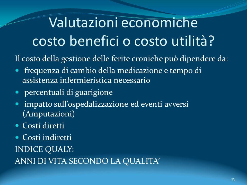 Valutazioni economiche costo benefici o costo utilità