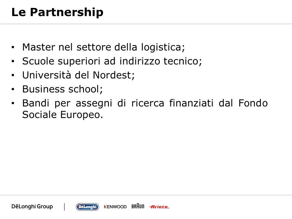 Le Partnership Master nel settore della logistica;