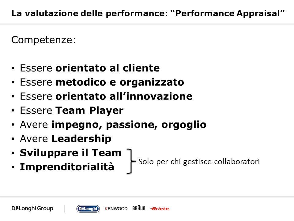 La valutazione delle performance: Performance Appraisal