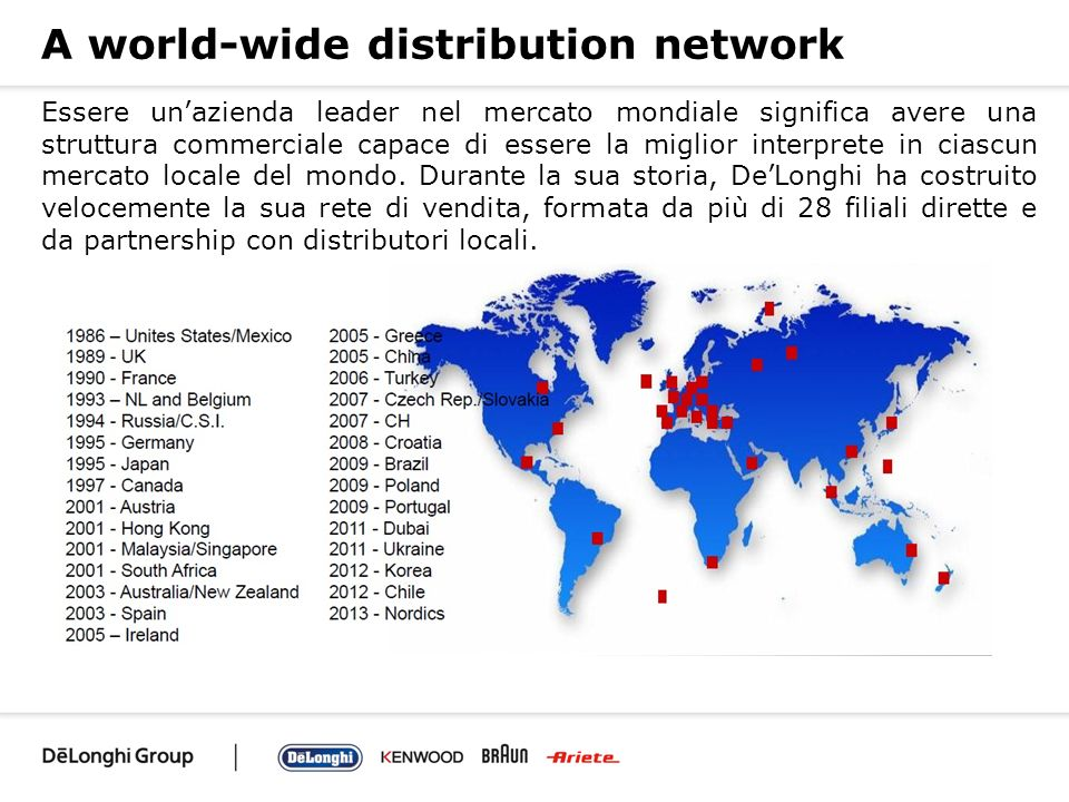 A world-wide distribution network