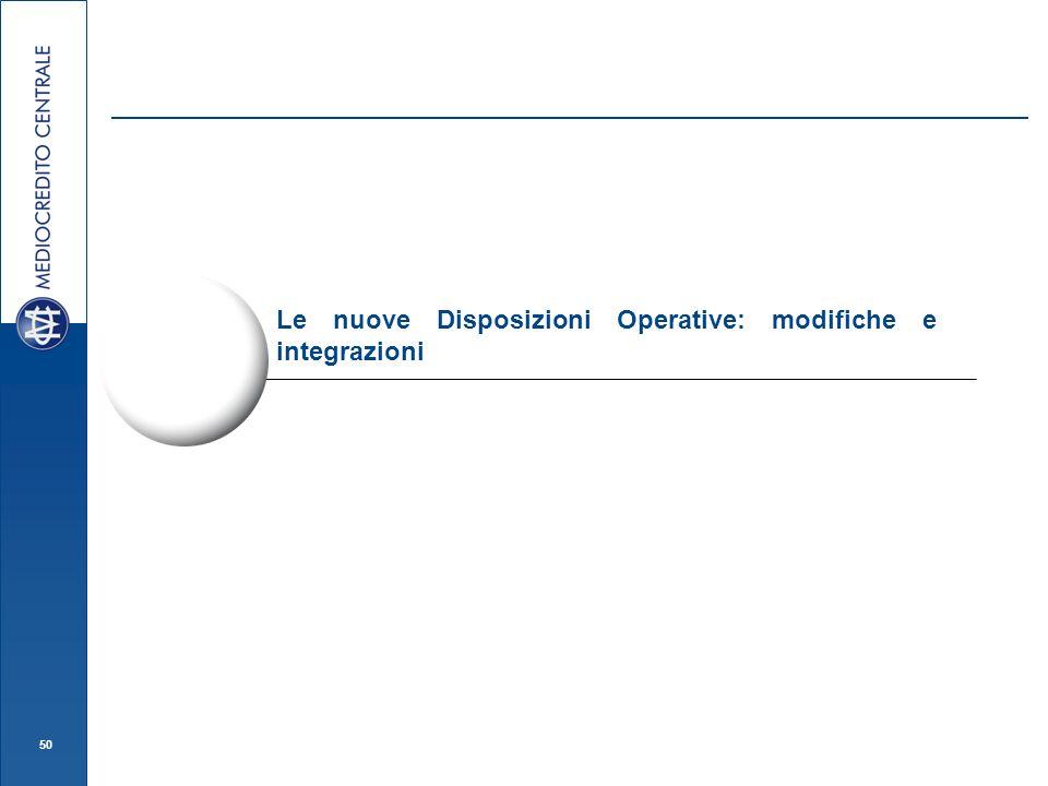 Le nuove Disposizioni Operative: modifiche e integrazioni