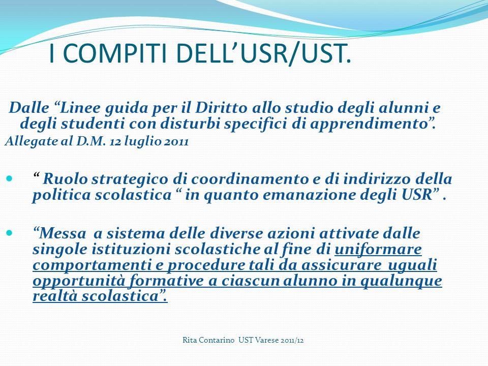 I COMPITI DELL'USR/UST.