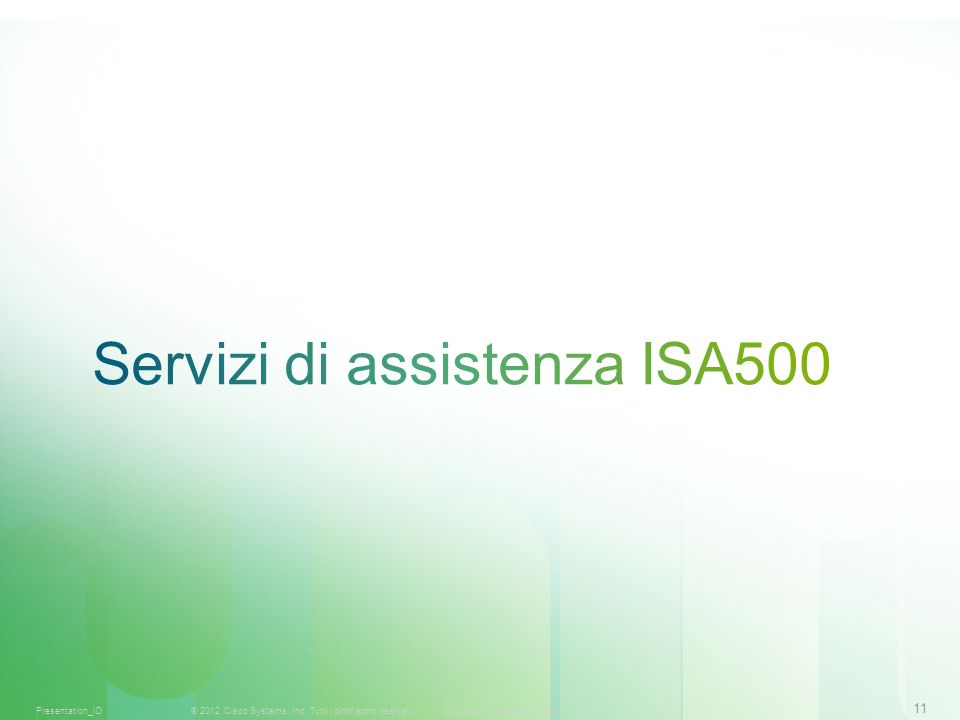 Servizi di assistenza ISA500