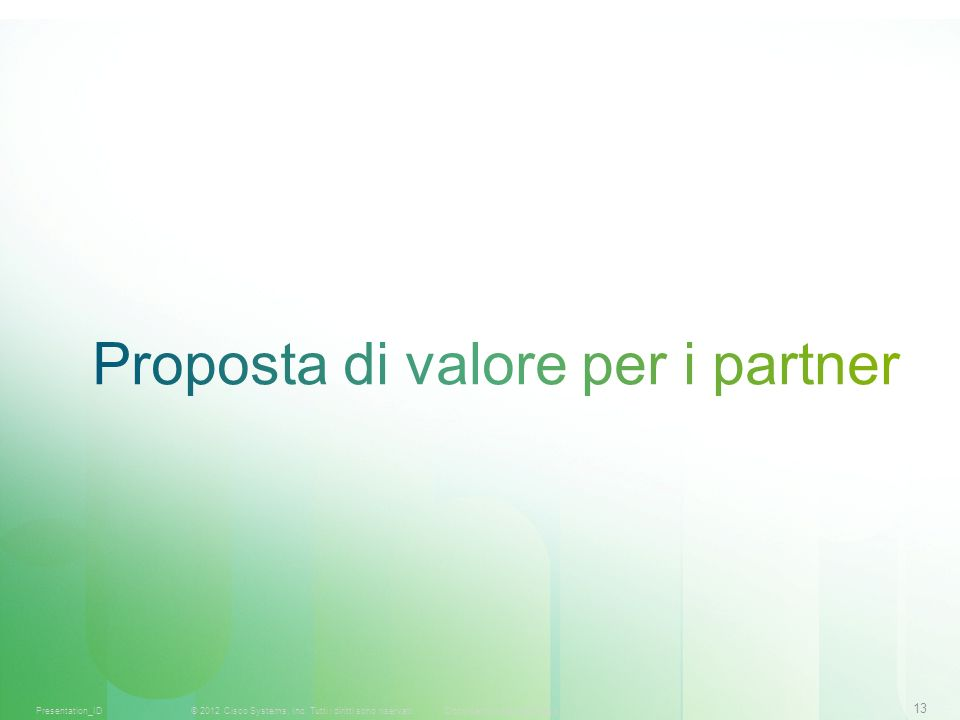 Proposta di valore per i partner