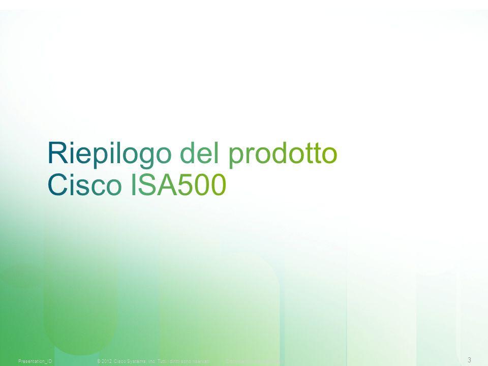 Riepilogo del prodotto Cisco ISA500