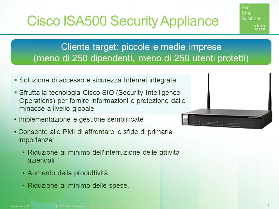Cisco ISA500 Security Appliance