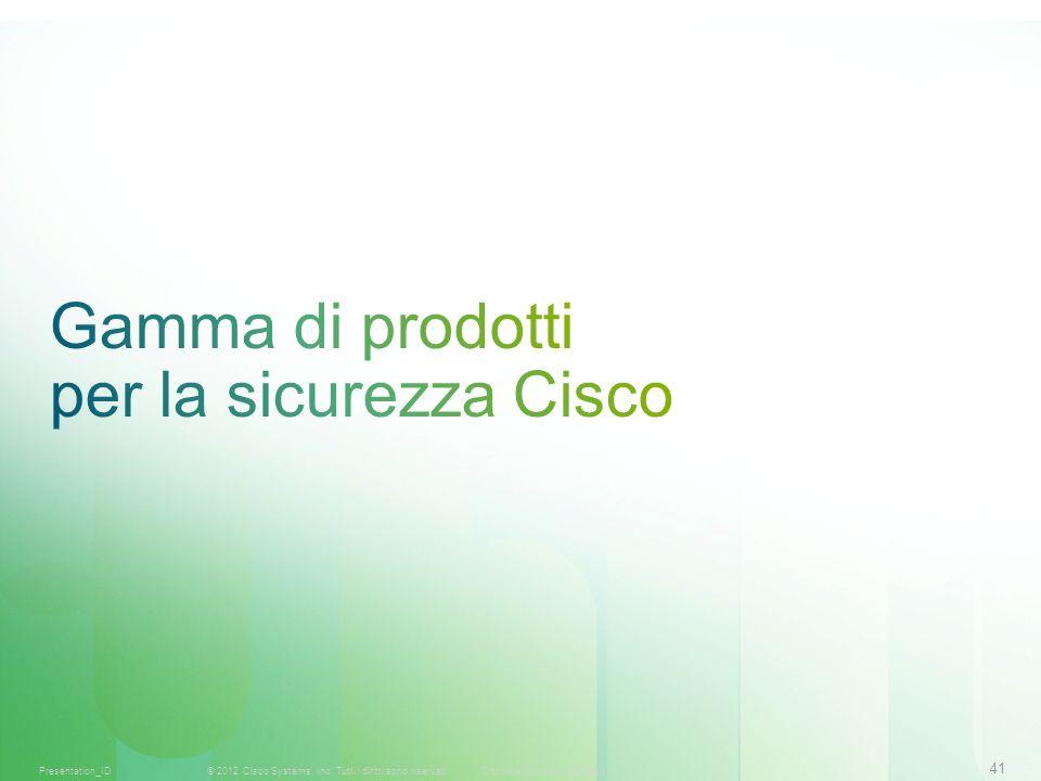 Gamma di prodotti per la sicurezza Cisco