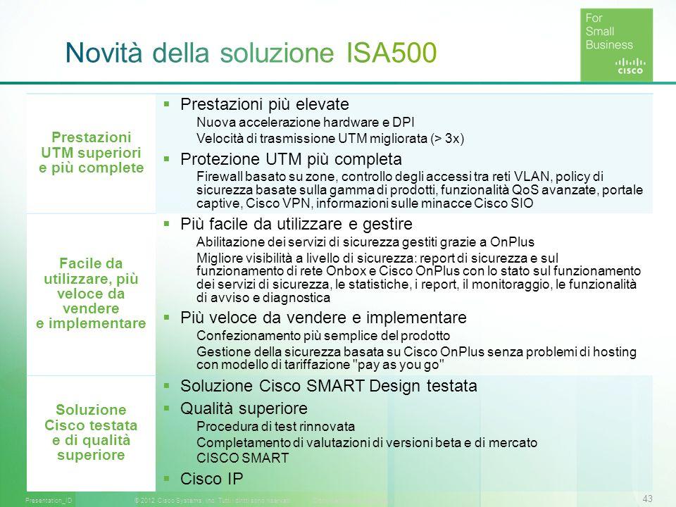Novità della soluzione ISA500