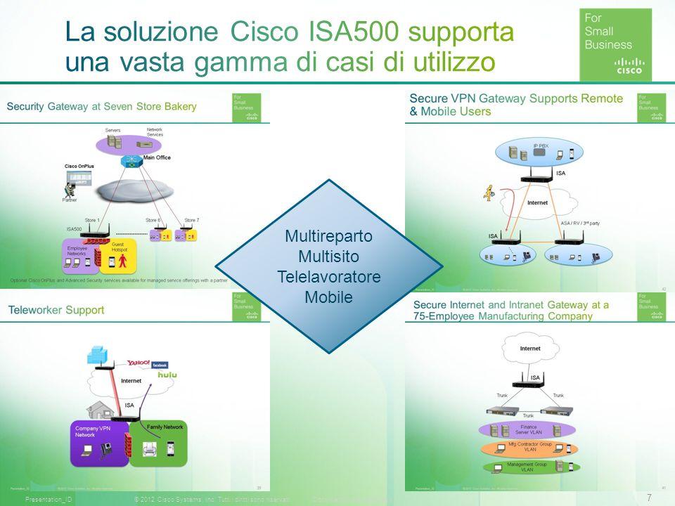 La soluzione Cisco ISA500 supporta una vasta gamma di casi di utilizzo