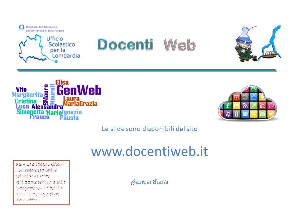 Le slide sono disponibili dal sito