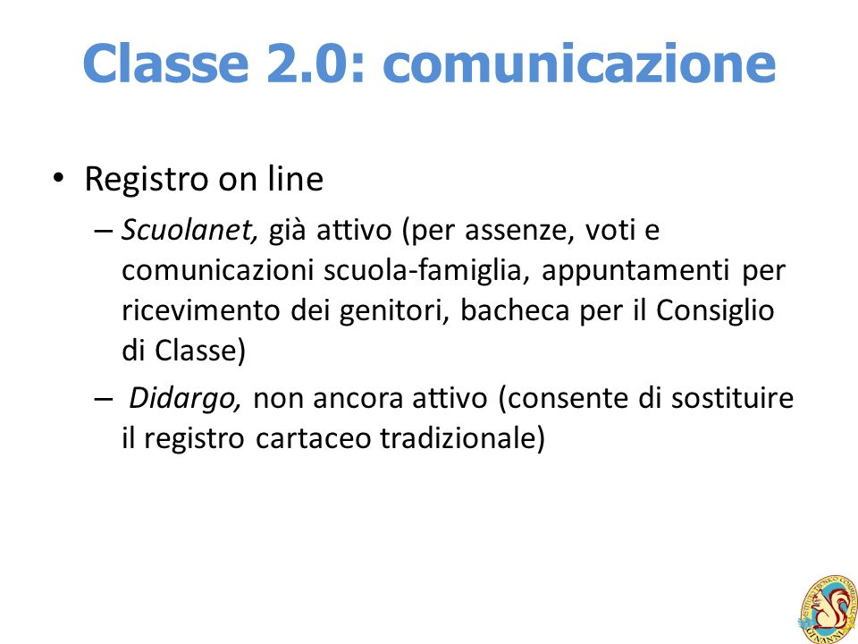 Classe 2.0: comunicazione
