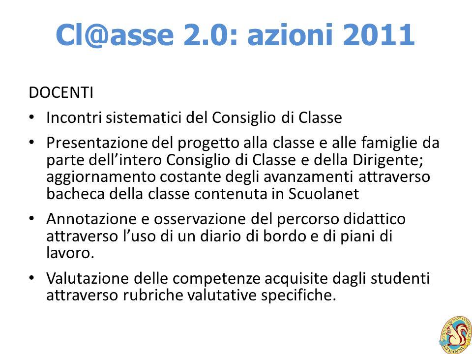 Cl@asse 2.0: azioni 2011 DOCENTI