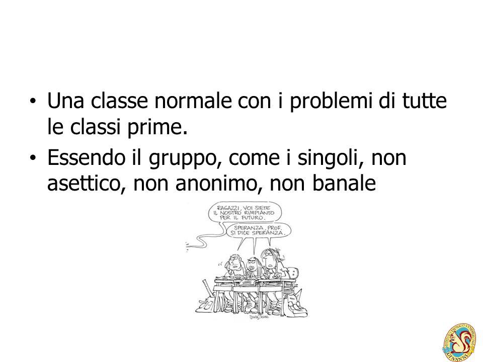 Una classe normale con i problemi di tutte le classi prime.