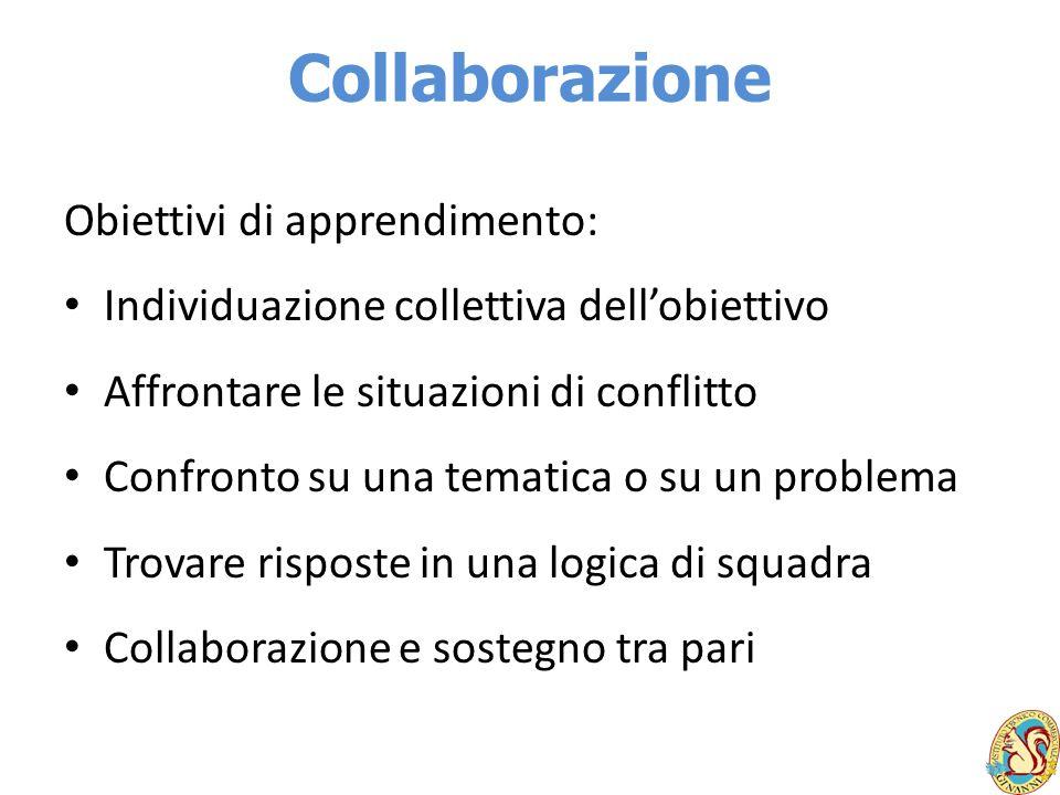 Collaborazione Obiettivi di apprendimento: