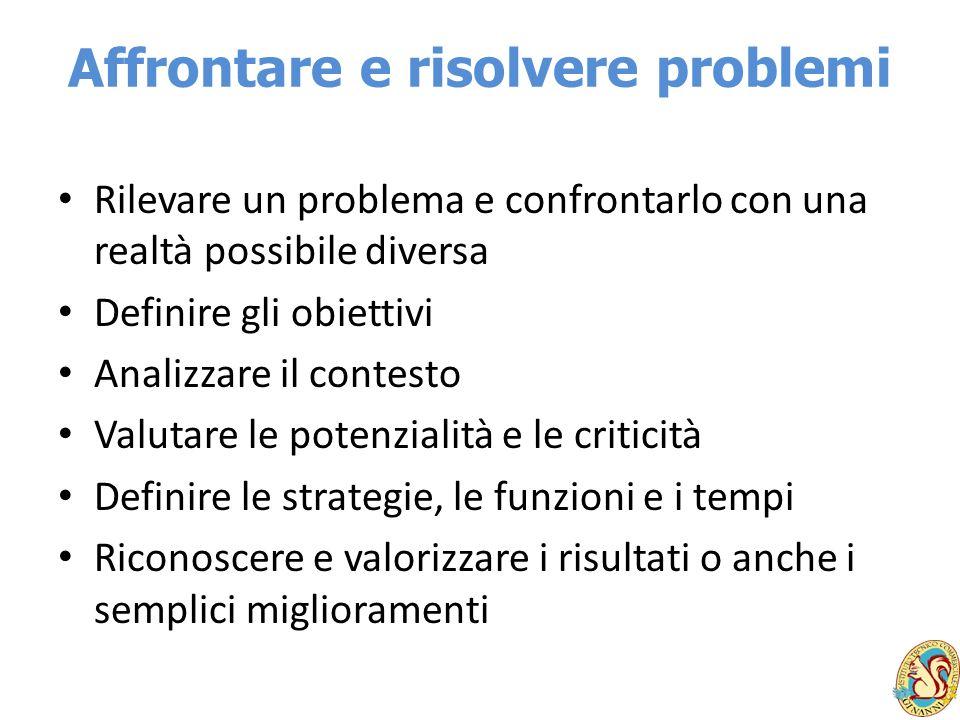 Affrontare e risolvere problemi