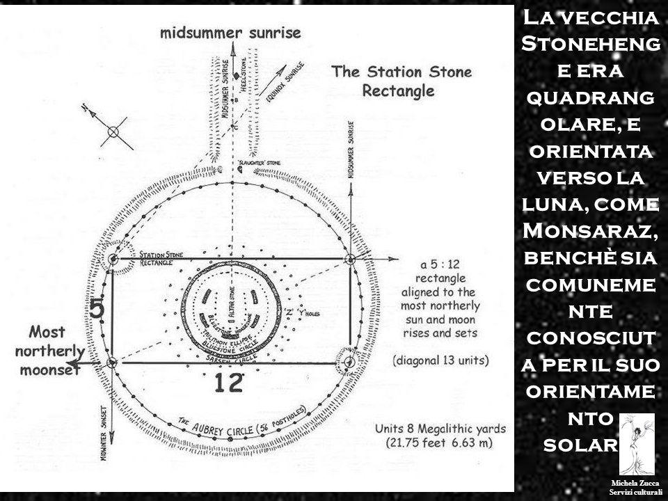 La vecchia Stonehenge era quadrangolare, e orientata verso la luna, come Monsaraz, benchè sia comunemente conosciuta per il suo orientamento solare.