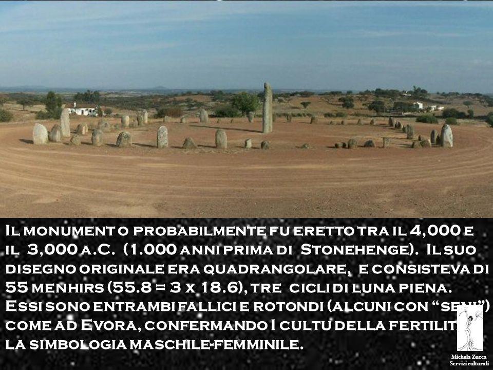Il monument o probabilmente fu eretto tra il 4,000 e il 3,000 a. C. (1