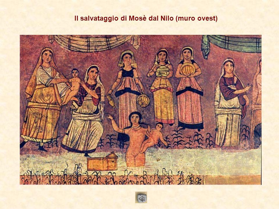 Il salvataggio di Mosè dal Nilo (muro ovest)