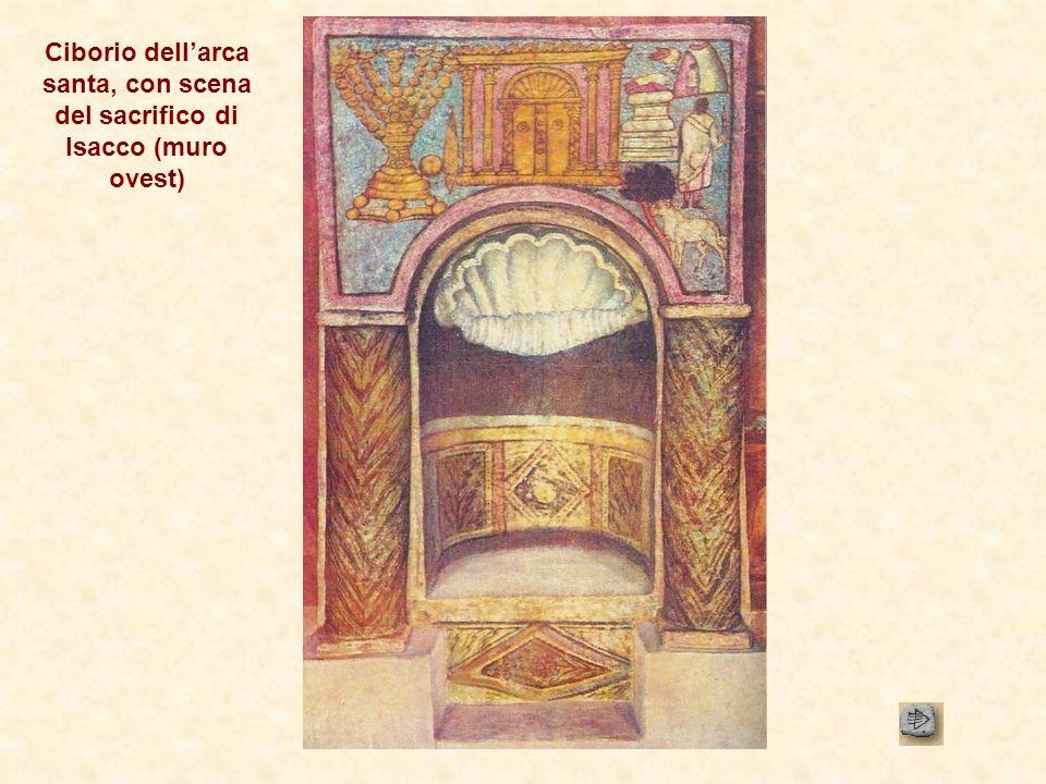 Ciborio dell'arca santa, con scena del sacrifico di Isacco (muro ovest)