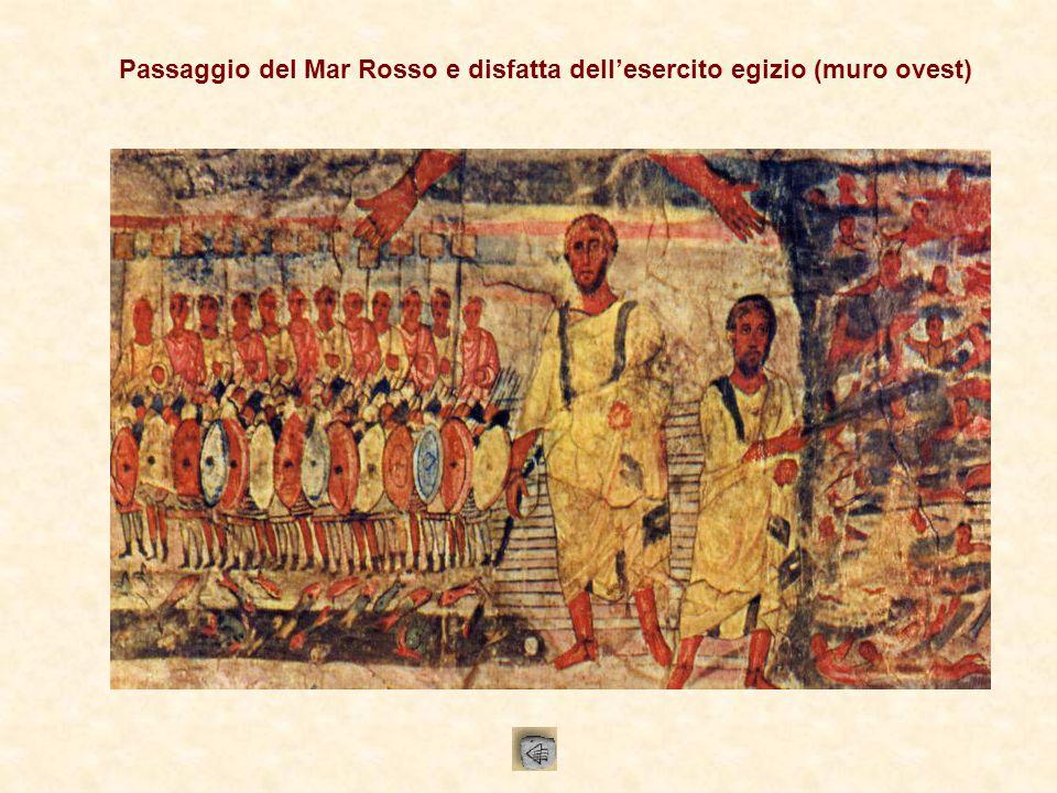 Passaggio del Mar Rosso e disfatta dell'esercito egizio (muro ovest)