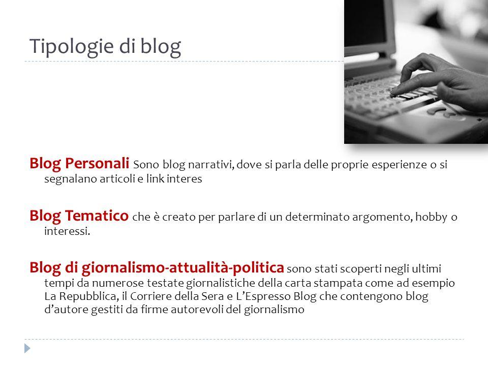 Tipologie di blog