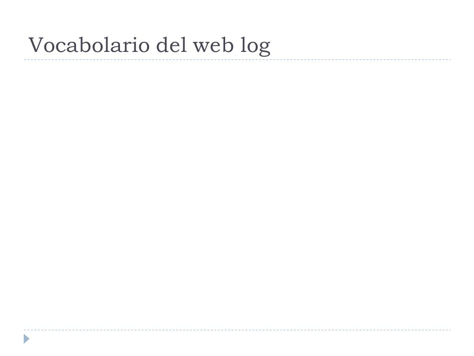 Vocabolario del web log