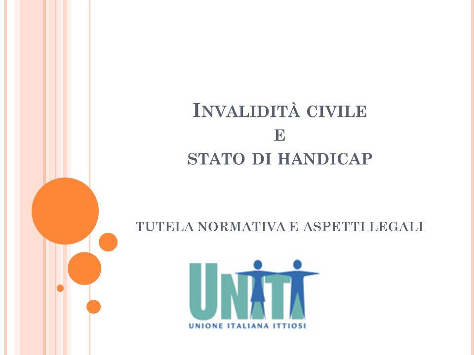 Invalidità civile e stato di handicap tutela normativa e aspetti legali