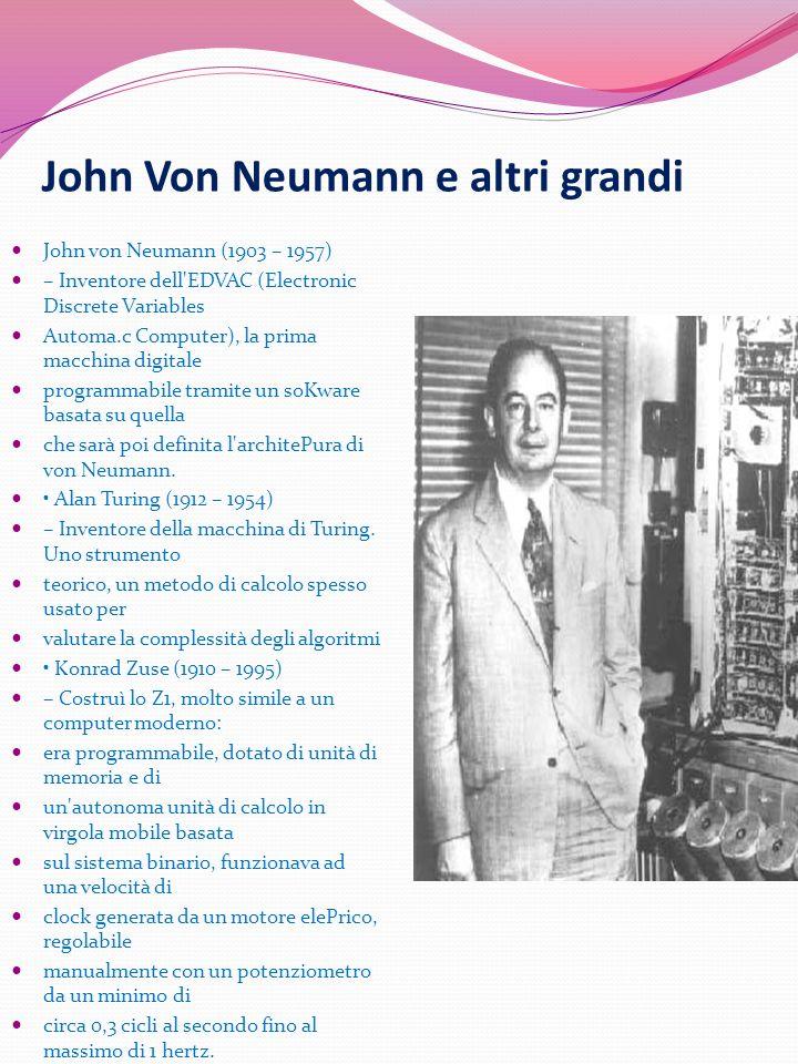 John Von Neumann e altri grandi