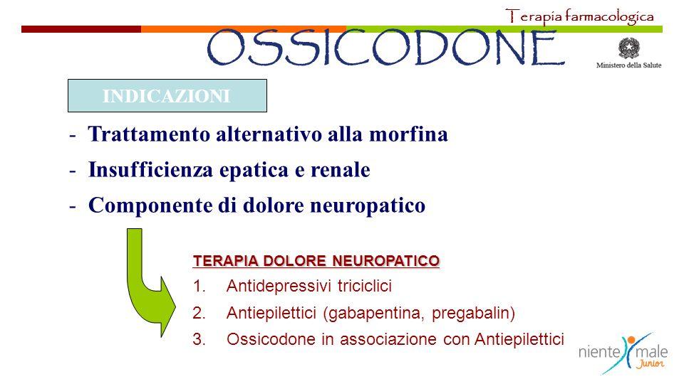 OSSICODONE Trattamento alternativo alla morfina
