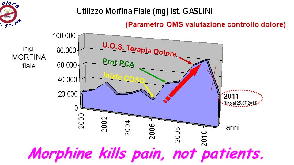 Morphine kills pain, not patients.