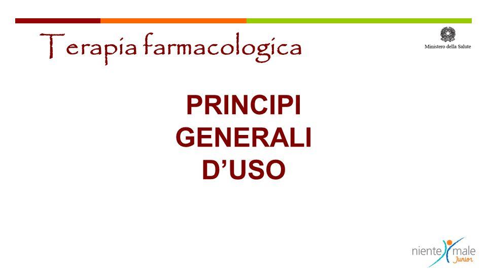 PRINCIPI GENERALI D'USO