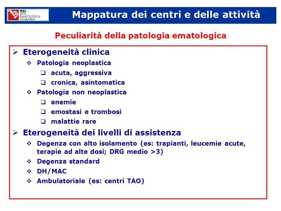 Peculiarità della patologia ematologica