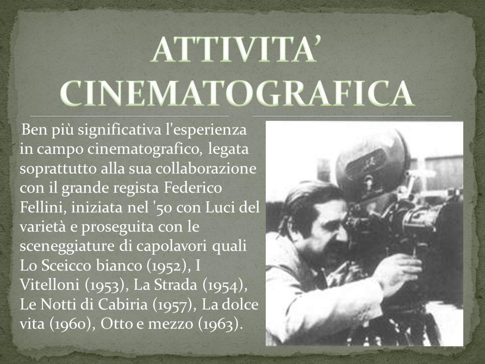 ATTIVITA' CINEMATOGRAFICA