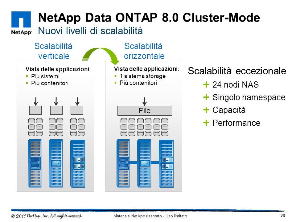 NetApp Data ONTAP 8.0 Cluster-Mode Nuovi livelli di scalabilità
