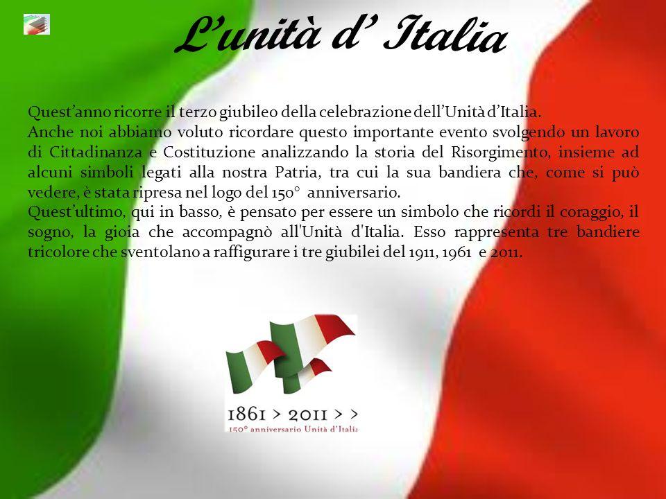 L'unità d' ItaliaQuest'anno ricorre il terzo giubileo della celebrazione dell'Unità d'Italia.