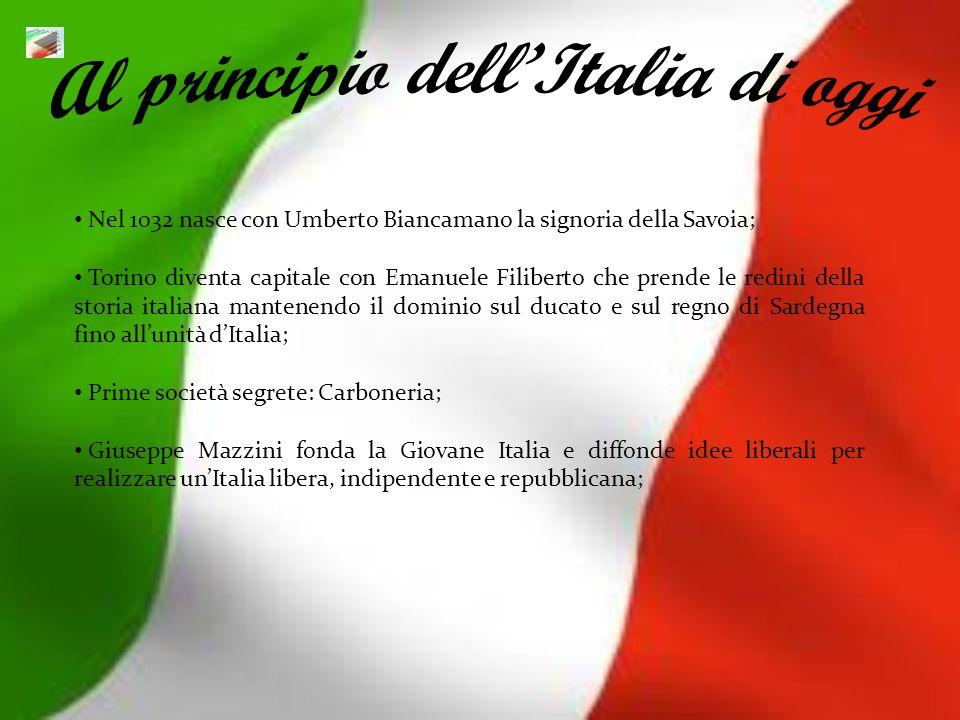 Al principio dell'Italia di oggi