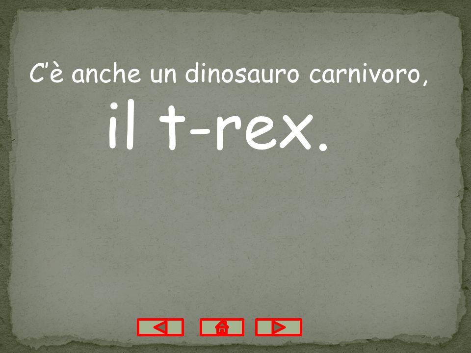 C'è anche un dinosauro carnivoro,