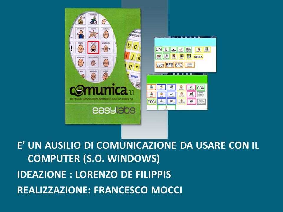 E' UN AUSILIO DI COMUNICAZIONE DA USARE CON IL COMPUTER (S. O