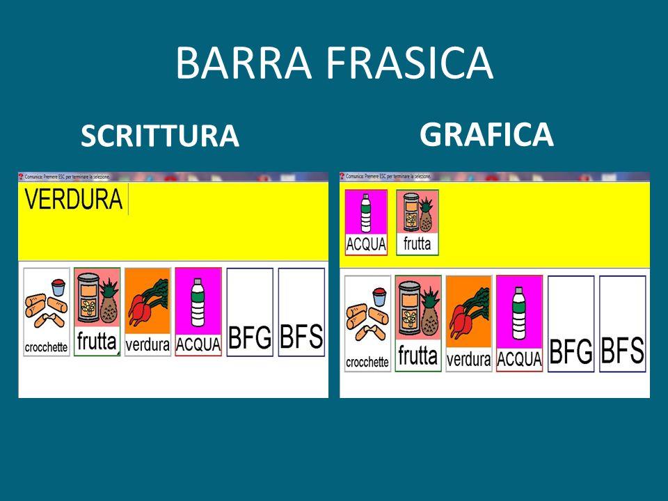 BARRA FRASICA SCRITTURA GRAFICA