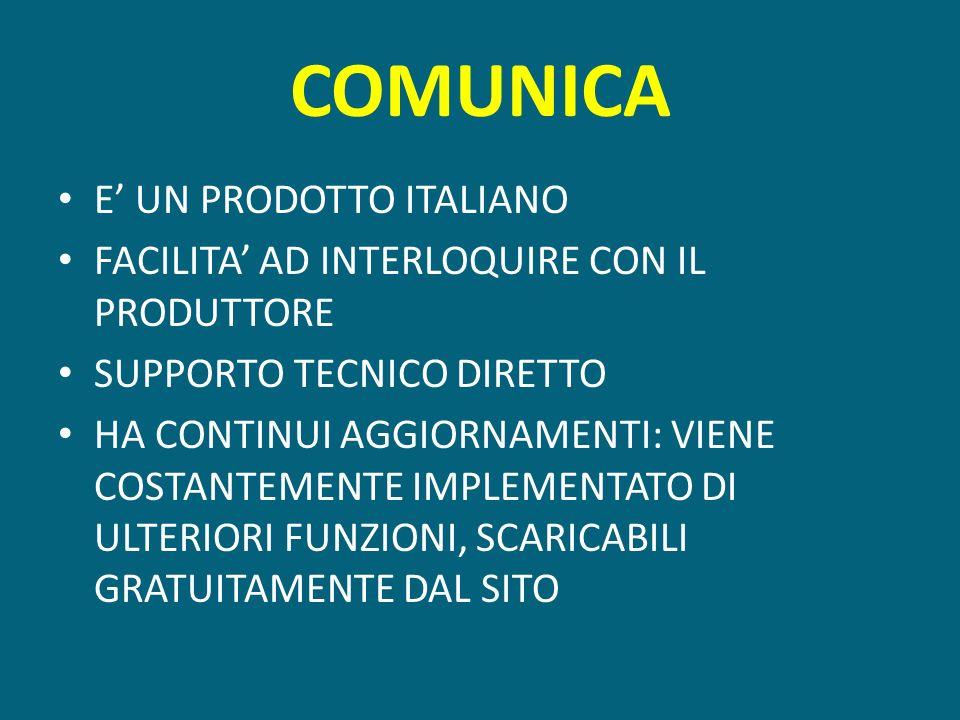 COMUNICA E' UN PRODOTTO ITALIANO