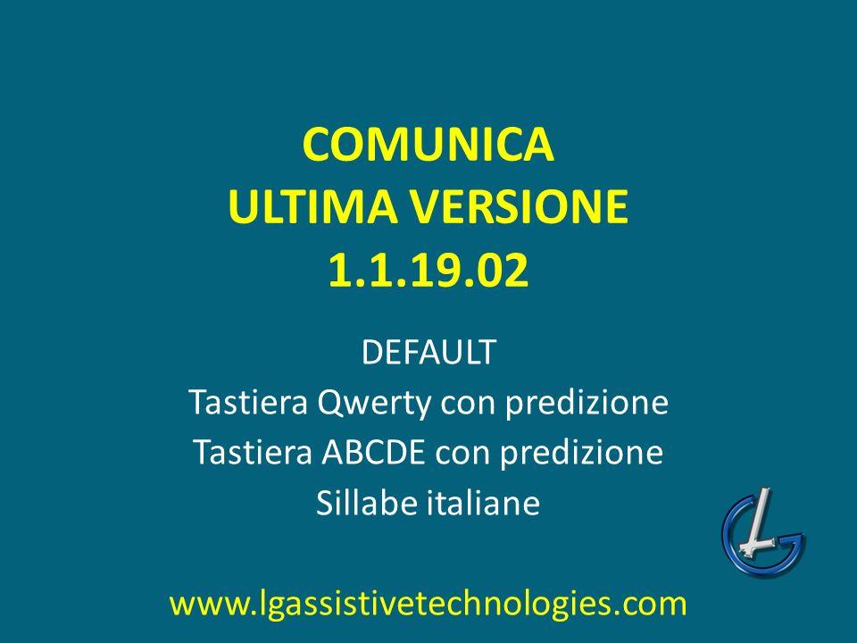 COMUNICA ULTIMA VERSIONE 1.1.19.02