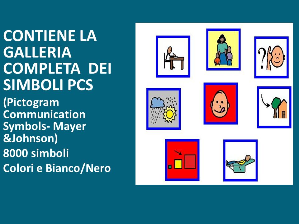 CONTIENE LA GALLERIA COMPLETA DEI SIMBOLI PCS