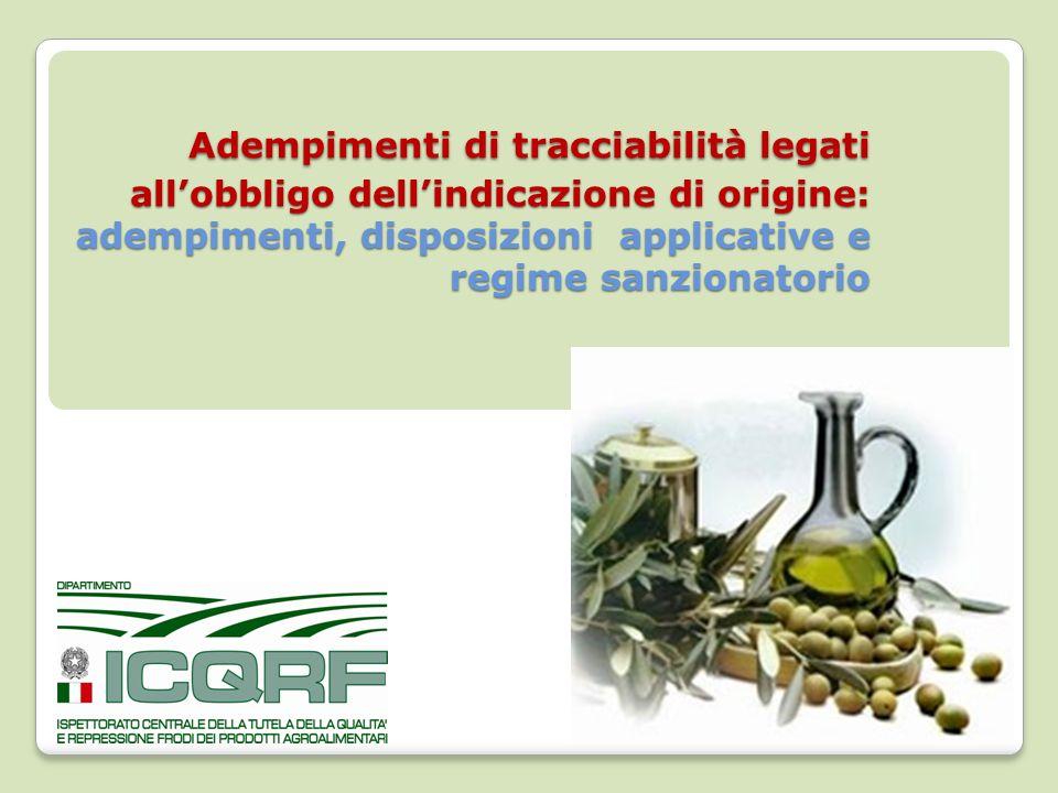 Adempimenti di tracciabilità legati all'obbligo dell'indicazione di origine: adempimenti, disposizioni applicative e regime sanzionatorio