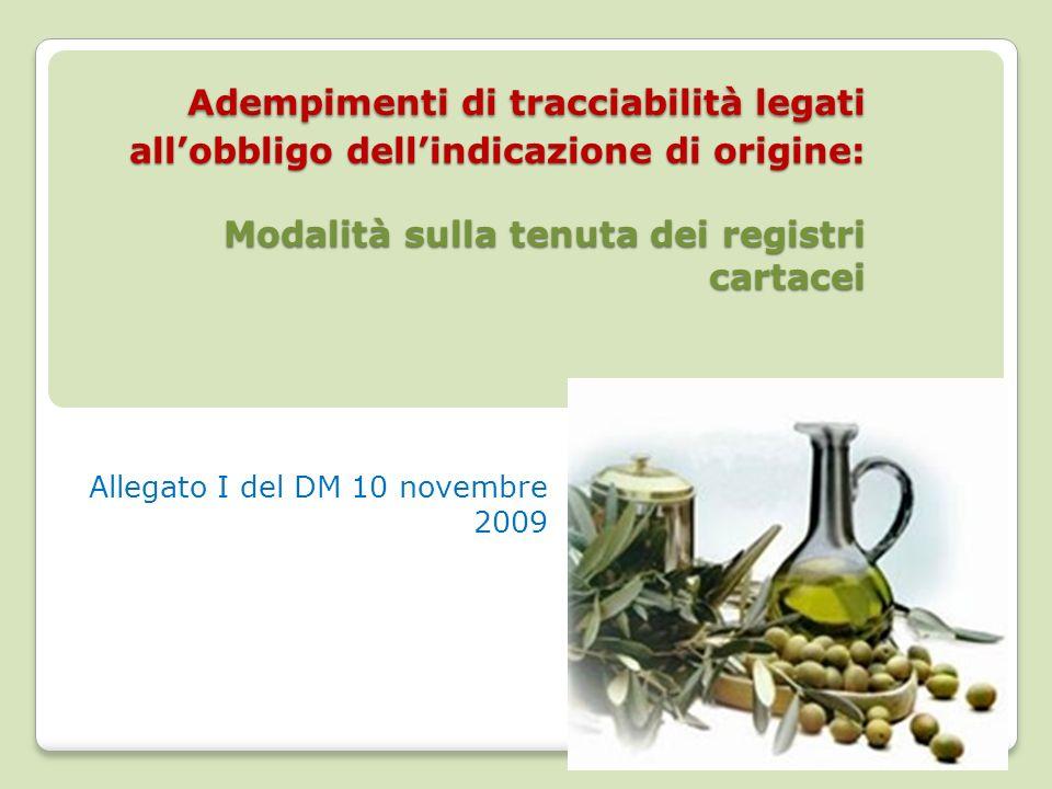 Allegato I del DM 10 novembre 2009