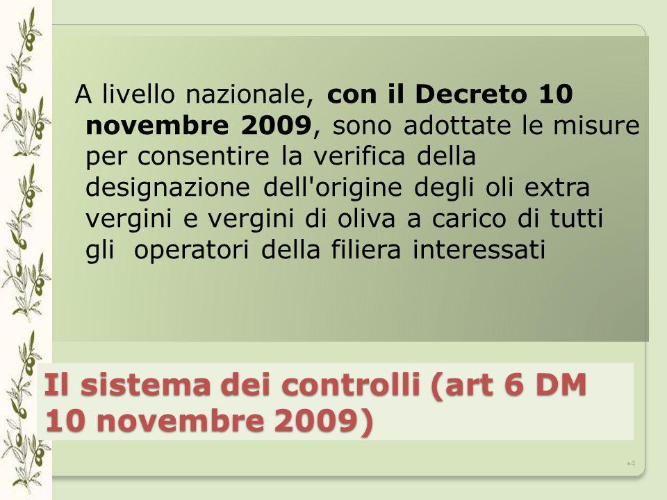 Il sistema dei controlli (art 6 DM 10 novembre 2009)
