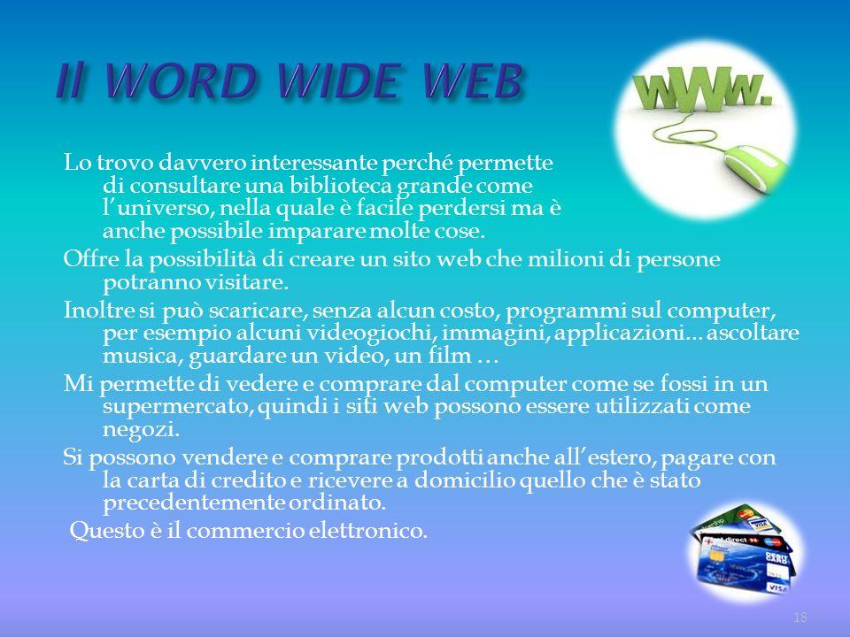 Il WORD WIDE WEB