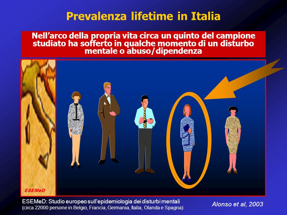 Prevalenza lifetime in Italia