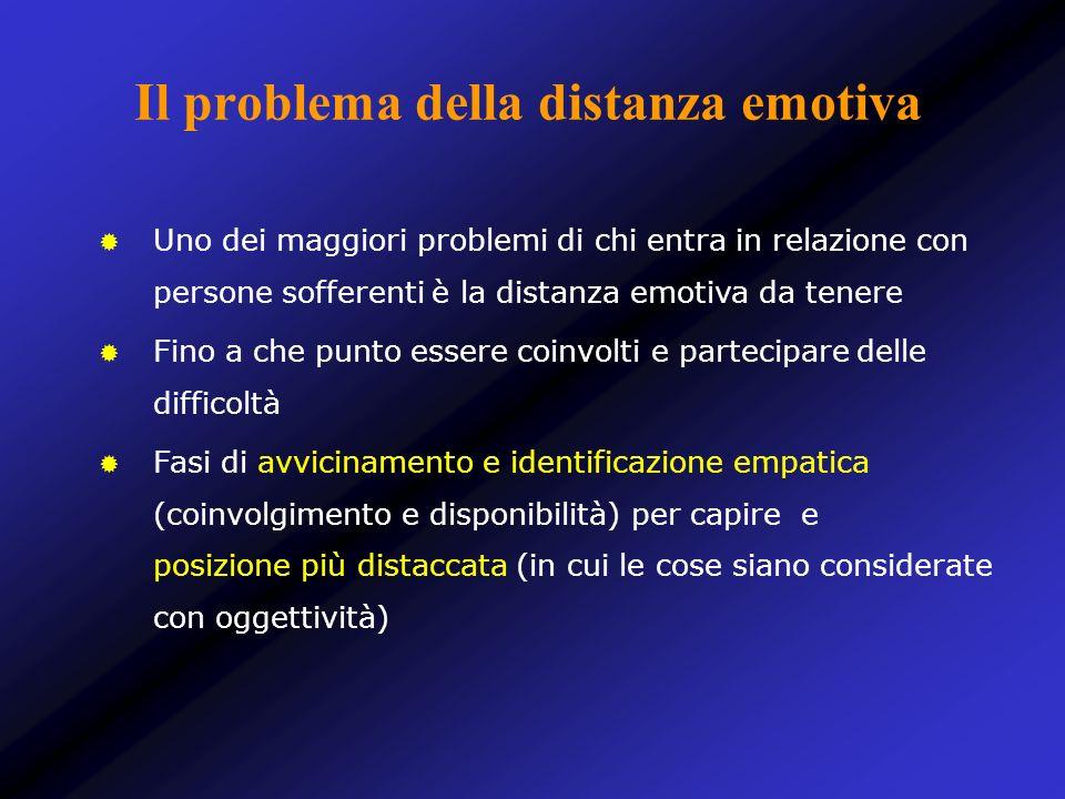 Il problema della distanza emotiva