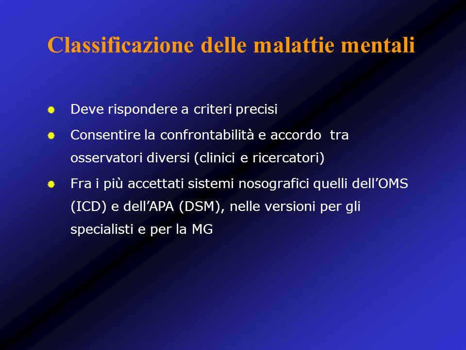 Classificazione delle malattie mentali