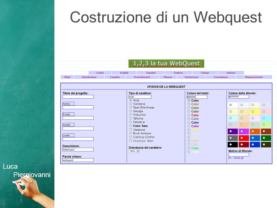 Costruzione di un Webquest